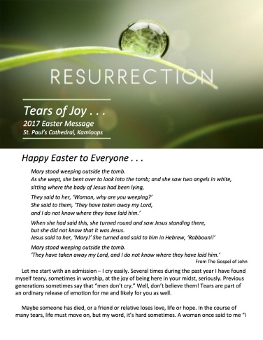 Easter Letter 2017 page 1